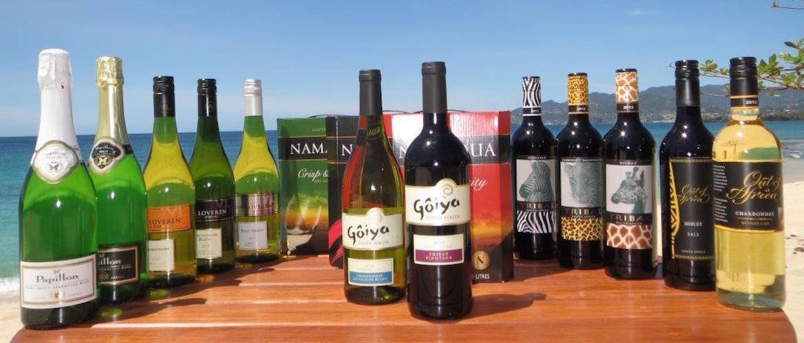 Grenada's Premium South African Wine Wholesaler - Wine selection